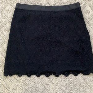 J. Crew Scalloped Lace Skirt